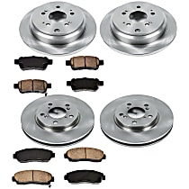 44OEREP40 SureStop OE Replacement Front And Rear Brake Disc and Pad Kit, 4-Wheel Set