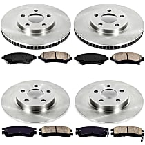 45OEREP15 SureStop OE Replacement Front And Rear Brake Disc and Pad Kit, 4-Wheel Set