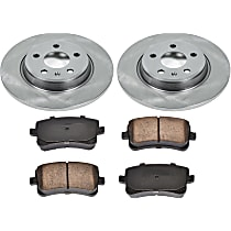 45OEREP47 SureStop OE Replacement Rear Brake Disc and Pad Kit, 2-Wheel Set