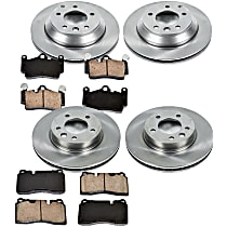 45OEREP57 SureStop OE Replacement Front And Rear Brake Disc and Pad Kit, 4-Wheel Set