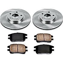 46OEREP11 SureStop OE Replacement Front Brake Disc and Pad Kit, 2-Wheel Set