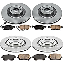 46OEREP57 SureStop OE Replacement Front And Rear Brake Disc and Pad Kit, 4-Wheel Set