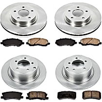 48OEREP28 SureStop OE Replacement Front And Rear Brake Disc and Pad Kit, 4-Wheel Set