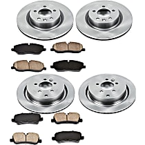 48OEREP60 SureStop OE Replacement Front And Rear Brake Disc and Pad Kit, 4-Wheel Set
