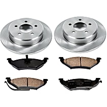 49OEREP51 SureStop OE Replacement Rear Brake Disc and Pad Kit, 2-Wheel Set