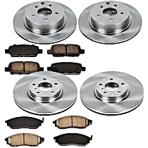 4OEREP11 SureStop OE Replacement Front And Rear Brake Disc and Pad Kit, 4-Wheel Set
