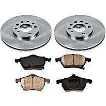 4OEREP83 SureStop OE Replacement Front Brake Disc and Pad Kit, 2-Wheel Set