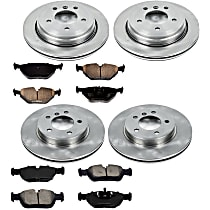 4OEREP87 SureStop OE Replacement Front And Rear Brake Disc and Pad Kit, 4-Wheel Set