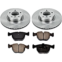 4OEREP94 SureStop OE Replacement Front Brake Disc and Pad Kit, 2-Wheel Set