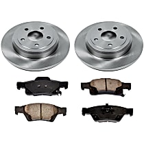 50OEREP59 SureStop OE Replacement Rear Brake Disc and Pad Kit, 2-Wheel Set