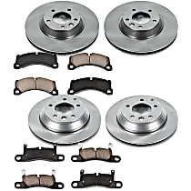 50OEREP60 SureStop OE Replacement Front And Rear Brake Disc and Pad Kit, 4-Wheel Set