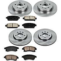 51OEREP55 SureStop OE Replacement Front And Rear Brake Disc and Pad Kit, 4-Wheel Set