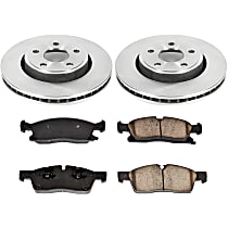 51OEREP59 SureStop OE Replacement Front Brake Disc and Pad Kit, 2-Wheel Set