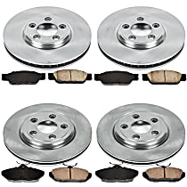 52OEREP13 SureStop OE Replacement Front And Rear Brake Disc and Pad Kit, 4-Wheel Set