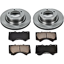 SureStop Front Replacement Brake Disc and Pad Kit - 2-Wheel Set, Incl. 13.94 in. Replacement Rotors