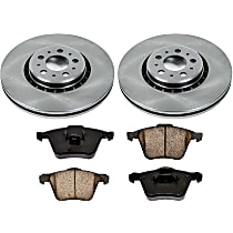 52OEREP45 SureStop OE Replacement Front Brake Disc and Pad Kit, 2-Wheel Set