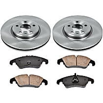 52OEREP57 SureStop OE Replacement Front Brake Disc and Pad Kit, 2-Wheel Set