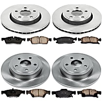 52OEREP59 SureStop OE Replacement Front And Rear Brake Disc and Pad Kit, 4-Wheel Set