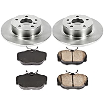 52OEREP61 SureStop OE Replacement Rear Brake Disc and Pad Kit, 2-Wheel Set