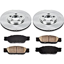 SureStop OE Replacement Front Brake Disc and Pad Kit, 2-Wheel Set