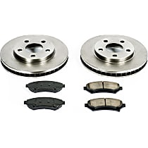 53OEREP25 SureStop OE Replacement Front Brake Disc and Pad Kit, 2-Wheel Set
