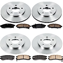 53OEREP54 SureStop OE Replacement Front And Rear Brake Disc and Pad Kit, 4-Wheel Set