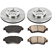 54OEREP10 SureStop OE Replacement Front Brake Disc and Pad Kit, 2-Wheel Set