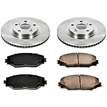 54OEREP30 SureStop OE Replacement Front Brake Disc and Pad Kit, 2-Wheel Set