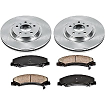 54OEREP46 SureStop OE Replacement Front Brake Disc and Pad Kit, 2-Wheel Set