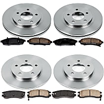 54OEREP54 SureStop OE Replacement Front And Rear Brake Disc and Pad Kit, 4-Wheel Set