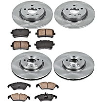 54OEREP57 SureStop OE Replacement Front And Rear Brake Disc and Pad Kit, 4-Wheel Set