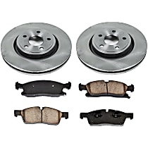 54OEREP59 SureStop OE Replacement Front Brake Disc and Pad Kit, 2-Wheel Set