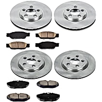 55OEREP13 SureStop OE Replacement Front And Rear Brake Disc and Pad Kit, 4-Wheel Set