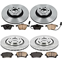 55OEREP53 SureStop OE Replacement Front And Rear Brake Disc and Pad Kit, 4-Wheel Set