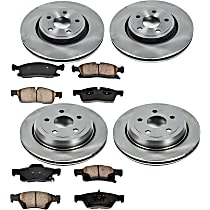 55OEREP59 SureStop OE Replacement Front And Rear Brake Disc and Pad Kit, 4-Wheel Set
