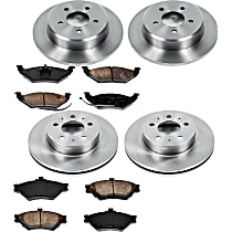 56OEREP62 SureStop OE Replacement Front And Rear Brake Disc and Pad Kit, 4-Wheel Set