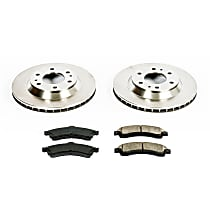 57OEREP20 SureStop OE Replacement Front Brake Disc and Pad Kit, 2-Wheel Set