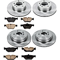 57OEREP53 SureStop OE Replacement Front And Rear Brake Disc and Pad Kit, 4-Wheel Set
