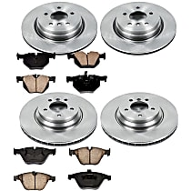 57OEREP60 SureStop OE Replacement Front And Rear Brake Disc and Pad Kit, 4-Wheel Set
