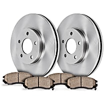 58OEREP13 SureStop OE Replacement Front Brake Disc and Pad Kit, 2-Wheel Set