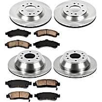 58OEREP20 SureStop OE Replacement Front And Rear Brake Disc and Pad Kit, 4-Wheel Set