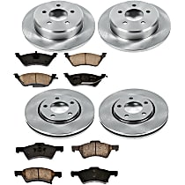 58OEREP44 SureStop OE Replacement Front And Rear Brake Disc and Pad Kit, 4-Wheel Set