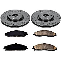 SureStop Front Replacement Brake Disc and Pad Kit - 2-Wheel Set, Naturally Aspirated Models With J55 or F55 Brake Package, With 340mm (13.3 in.) Front Rotors