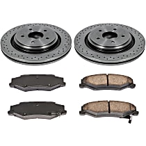 SureStop Rear Replacement Brake Disc and Pad Kit - 2-Wheel Set, Models With Heavy Duty J55 or F55 Brake Package, 340mm (13.3 in.) Front Rotor