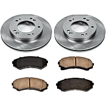 59OEREP52 SureStop OE Replacement Front Brake Disc and Pad Kit, 2-Wheel Set