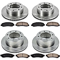 SureStop Front And Rear Replacement Brake Disc and Pad Kit - 4-Wheel Set, 4WD Models Built Up To 2/12/2010, Incl. 13.66 in. Front/13.39 in. Rear