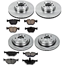 5OEREP50 SureStop OE Replacement Front And Rear Brake Disc and Pad Kit, 4-Wheel Set