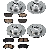 5OEREP75 SureStop OE Replacement Front And Rear Brake Disc and Pad Kit, 4-Wheel Set