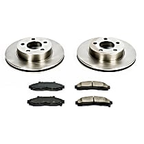 SureStop Front Replacement Brake Disc and Pad Kit - 2-Wheel Set, 4WD or AWD Models