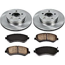 60OEREP21 SureStop OE Replacement Front Brake Disc and Pad Kit, 2-Wheel Set